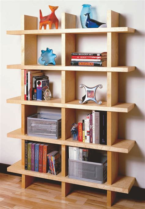 aw contemporary bookcase popular woodworking