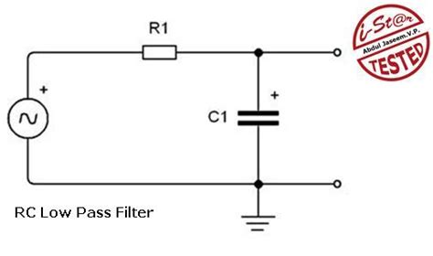 simple rc low pass filter circuit diagram with frequency response integrator electronics circuits