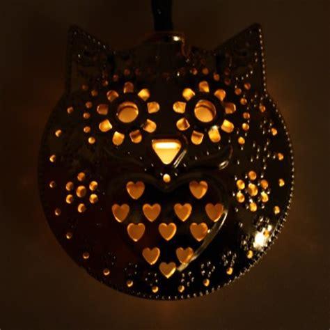 owl string lights solar owl filigree string lights
