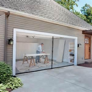 Garage door screen kit