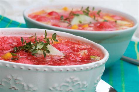 watermelon gazpacho what a watermelon 13 recipes that highlight the juicy fruit popsugar food