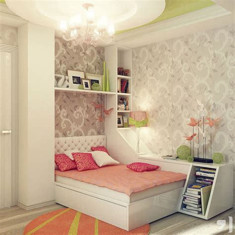 Teenage Girl Bedroom Design Ideas | teen room designs peach green gray scheme bedroom design