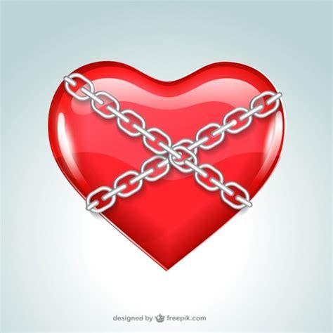 imagenes de corazones encadenados chained heart vector free download