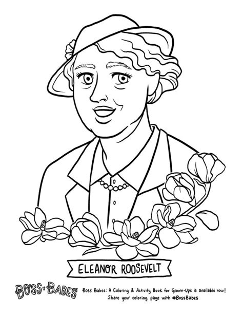eleanor roosevelt coloring page coloring coloring pages