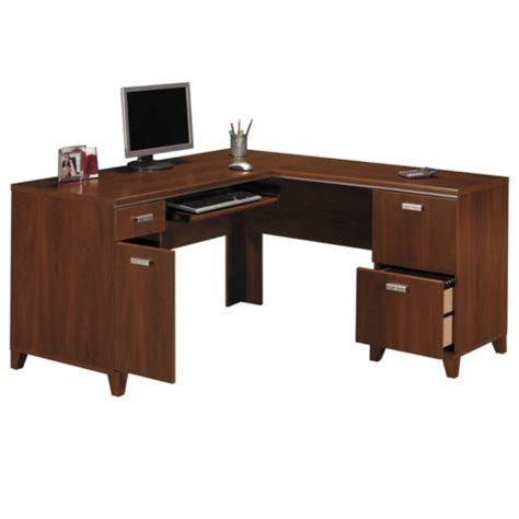 l shaped desk w right return tuxedo by bush