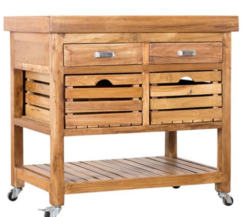 7 kitchen islands with light wood finish furniture