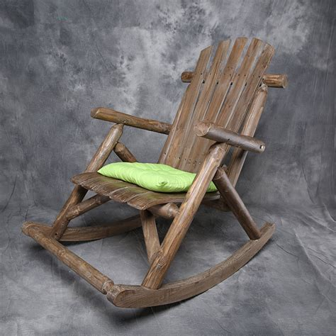 wooden garden recliner chairs modern solid wood rocking chair antique natural outdoor