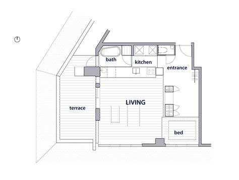 small loft apartment floor plan an apartment block attic conversion in tokyo by g architects