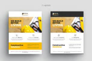 construction flyer templates free construction business flyer flyer templates on creative