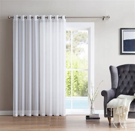 Sheer Patio Door Curtains Hlc Me One Panel Wide Sheer Voile Patio Door Grommet Curtain Panel For Sliding Doors