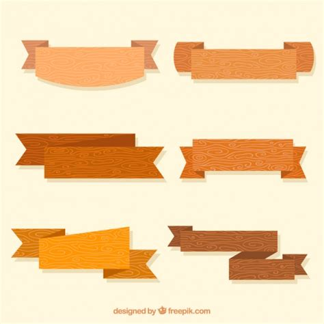 cintas decorativas pack de cintas decorativas de madera descargar vectores