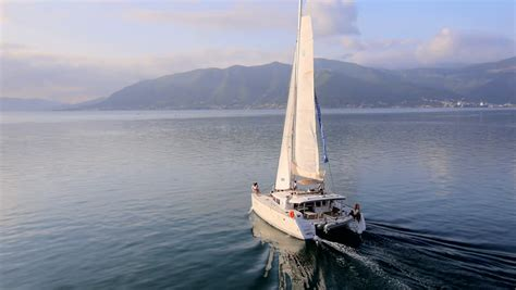 catamaran boat video catamaran footage stock clips