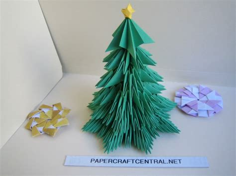 3d origami tree tutorial tiny trees roshipotoshi