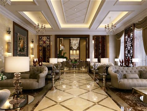 simple european style sales office reception room interior design