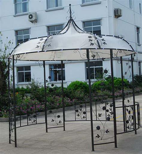 pavillon stahl romantik 3m rund stahl garten pavillon partyzelt