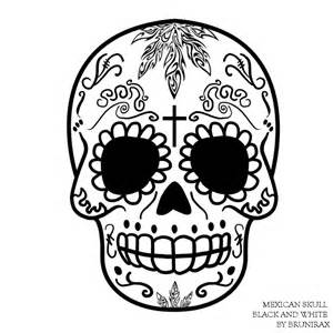 mexican skull by brunirax by brunirax on deviantart