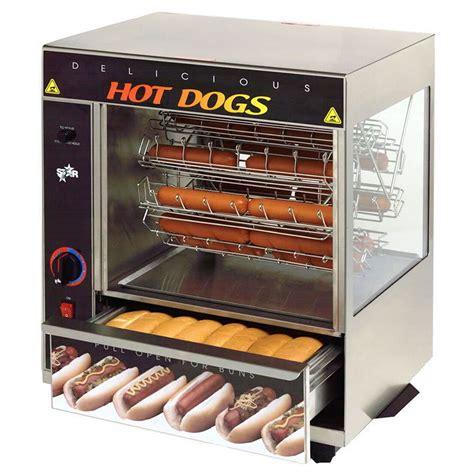 hot dog machine with bun warmer star 175cba hot dog broiler w bun warmer cradle type 36