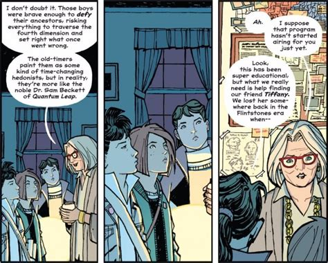 paper girls volume 4 page 45 comic graphic novel reviews april 2018 week three page 45 comics graphic novels