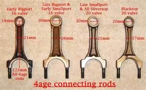 4age conrods and pistons comparison toyota the one you