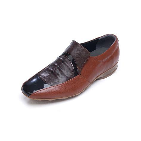 mens unique wrinkle multi color sheepskin comfort dress shoes