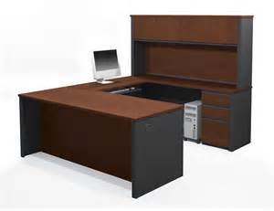 Small U Shaped Desk Bestar Prestige U Shaped Desk And Hutch