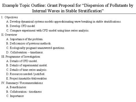 topical outline template exle topic outline grant for dispersion of