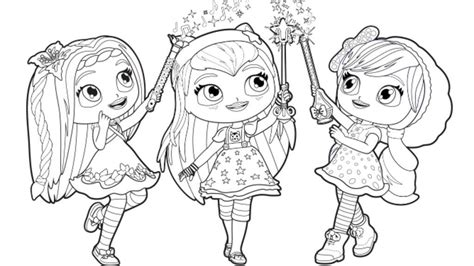 Little Charmers Coloring Pages Nick Jr | little charmers little charmers group colour colouring