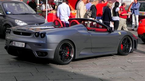 ferrari f430 modified novitec rosso modified ferrari f430 spider sound youtube