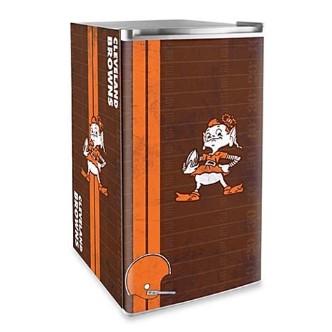 cleveland brown bathtub nfl cleveland browns legacy counter height refrigerator