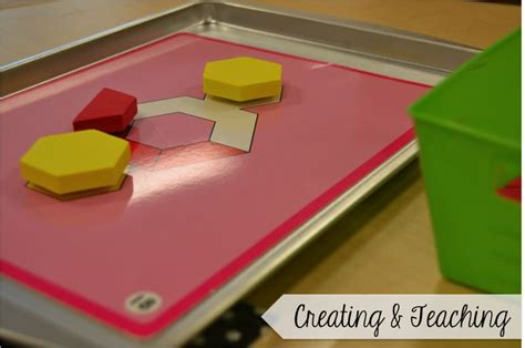 pattern block trays creating teaching what are these cookie trays all about
