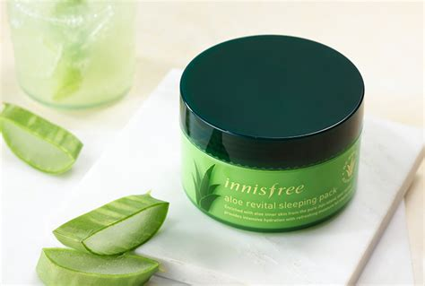 Aloe Revital Sleeping Pack 100ml innisfree aloe revital sleeping pack 100ml free