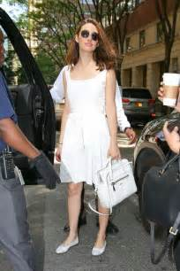 emmy rossum live emmy rossum arrives at live with kelly and michael 10
