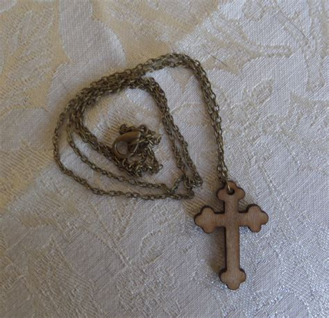 Handmade Wooden Necklaces - handmade wooden cross necklace keychains earrings or wall