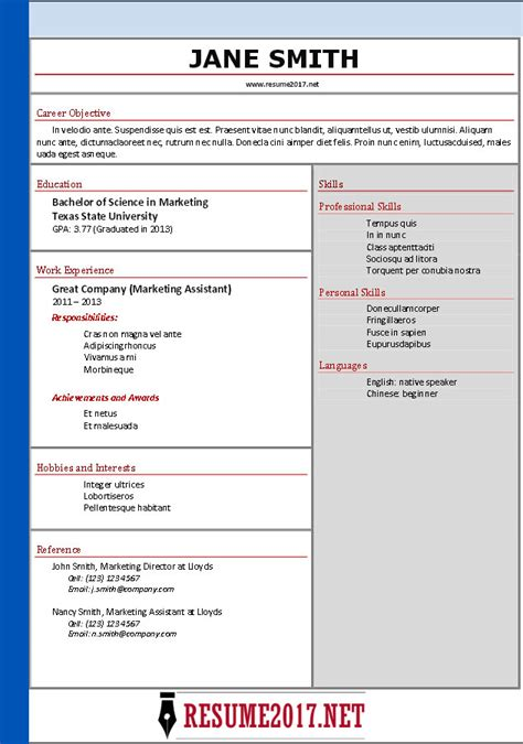 Resume Format Sle by Office Boy Resume Format Sle 28 Images Resume