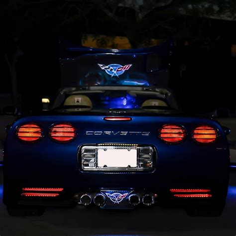 c5 corvette 1997 2004 lower rear fascia vent led lighting