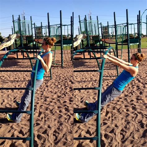 swing set rows playground workout the workout mama