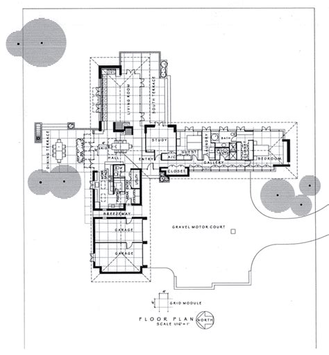 frank lloyd wright usonian floor plans modernized usonian house plans pinterest