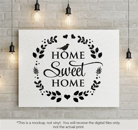 Sweet Home home sweet home svg by blackcatssvg thehungryjpeg