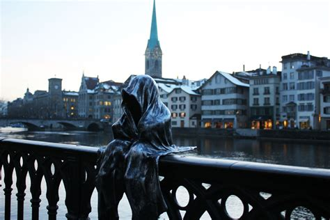 art design zurich the guardians of time by sculptor manfred kielnhofer in