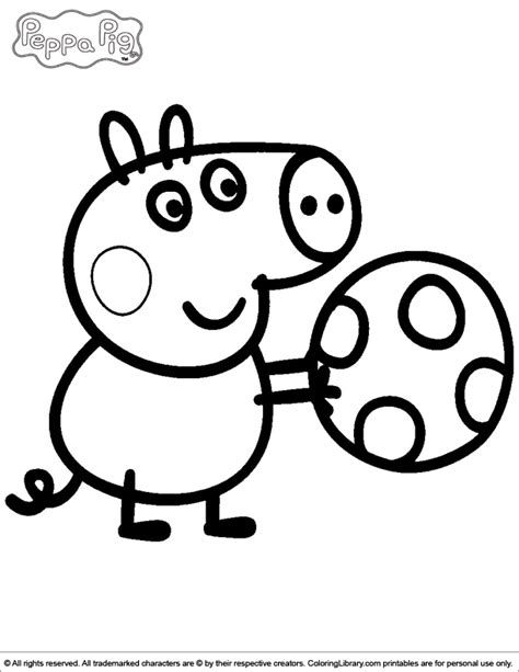 colouring pictures of peppa pig and george peppa pig coloring picture