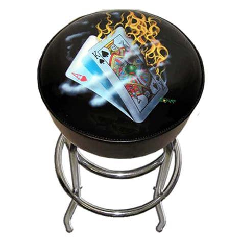 Stool Burning by 30 Quot Burning Blackjack Bar Stool By Michael Godard