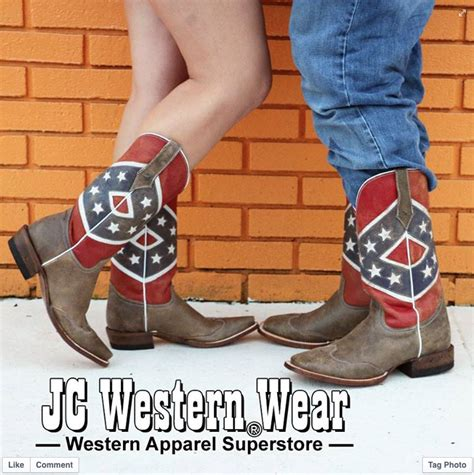 roper rebel flag boots cowboy boots western boots western wear clothing wrangler