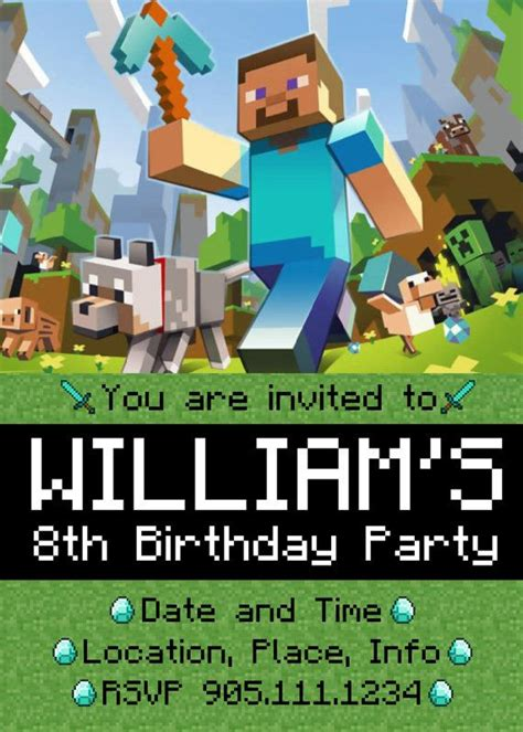 Minecraft Birthday Card Template Free by 999 Best Images About Ideas On