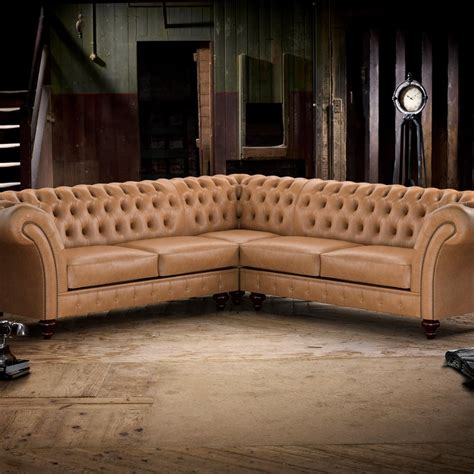 corner chesterfield leather sofa grosvenor corner unit 3x1 from timeless chesterfields uk