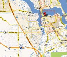 stuart florida map map of stuart riverland in stuart florida 55