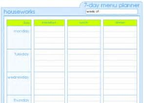 dinner menu template for home menu planner templates smarterfitter