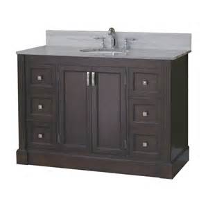 Lowes Bathroom Vanity Roth Allen Roth 49 In Espresso Kingsway Traditional Bath