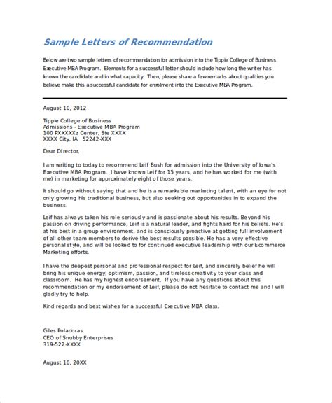 Exle Of A College Letter Of Recommendation Sle College Recommendation Letter 7 Exles In Word Pdf