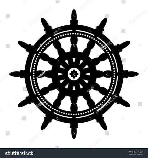 boat steering wheel free vector ship steering wheel vector illustration stock vector