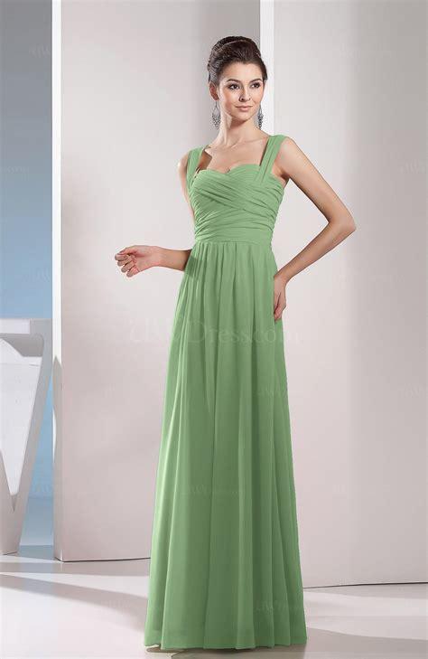 sage green cute a line chiffon floor length ruching